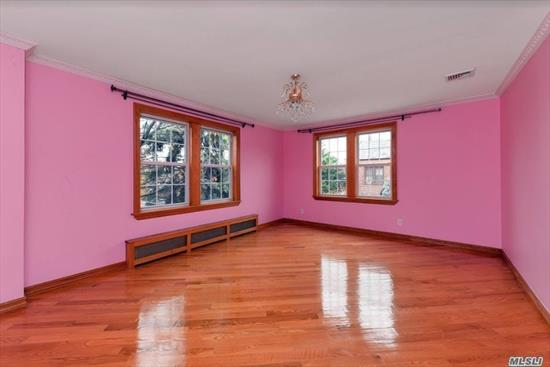 Zoned For PS 144. Fully Updated and Refreshed Family Tudor With 3 Spacious Bedrooms, 1.5 Bathroom, Jacuzzi,  Spacious and Fully Finished Basement With Cedar Closet, Plenty of Storage Space. Washer/Dryer In-Unit. Detached Garage. Monthly Gardening maintenance included. Ready For Immediate occupancy!!!