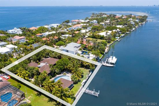 Yachtsman'S Paradise! Unique And Rare Opportunity To Own One Of The Few Remaining And Most Sought After Builder'S Acre Lot On Private And Wide Bodied Hurricane Harbor. This Oversized 31, 996 Sq Ft Lot Includes 150 Linear Ft Seawall And A Long Dock Jetting Into The Harbor. Ideal For Multiple Boat Dockage And/Or Yacht. Unique Custom Built And Over Built Polynesian Style 4/3.5 Pool Home And Separate Boat House/Office Features Guayana Greenheart Wood, Teak, Copper And Coral Rock. Ideal Home For Entertaining With Expansive Coral Rock Patios & Large Pool With Waterfall. Easy To Show!