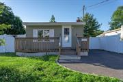 Come See This Updated Ranch. 2 BR, Full Bath, EIK, Sun Room/Dining Rm, Separate Panel for House Generator. Fully PVC Fenced Property. Low Taxes!