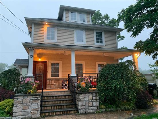 2Br, 1 Full Bath, Eik, LR, attic for storage, washer and dryer, mint condition. 1Parking spot included. Tenant in charge Of All Utilities. Close To Lirr & Bus Stop N21. This is an apartment located in a 2nd floor of a two family house. Broker fee.
