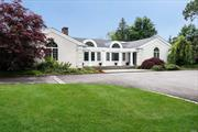 A true treasure! Welcome to this pristine & extremely private residence in the heart of Oyster Bay Cove. This home features every amenity for the modern buyer. Home offers open layout for the entertainer. Large family room w/ vaulted ceilings & fireplace and French doors leading into gourmet kitchen. Spacious master suite with European bath with park-like, stunning views. Newer Andersen windows, roof, and more! Gorgeous grounds. A must see! LOW TAXES!
