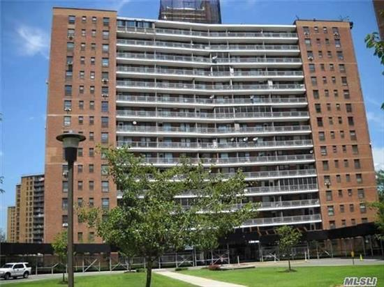 This bright and spacious studio unit is offered in mint condition with renovated bathroom, upgraded kitchen with top of the line appliances and gorgeous floors. The apartment terrace offers nice views of the Rotunda garden and the well maintained Co-op features 24hr doorman/security service, laundry on premises, storage bins for rent and parking(waiting list). Enjoy the best location in Rego Park within walking distance to shops buses and subways.