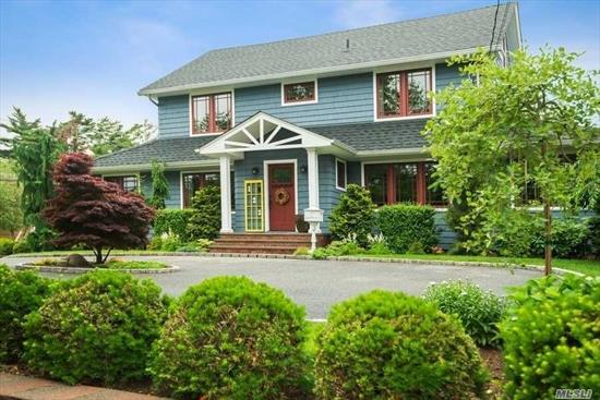 Come see this Colonial home boasting park like grounds! Kitchen features custom cabinets, granite countertops, and SubZero/Wolf appliances. Bar area with SubZero wine fridge. Living room with woodburning stove and family room lead out to an expansive yard with covered patio and outdoor kitchen. Master en suite with his/her walk in closets. Sound system throughout first floor, master suite, and outdoor patio. Whole home water filtration system. 2009 full home gut renovation.