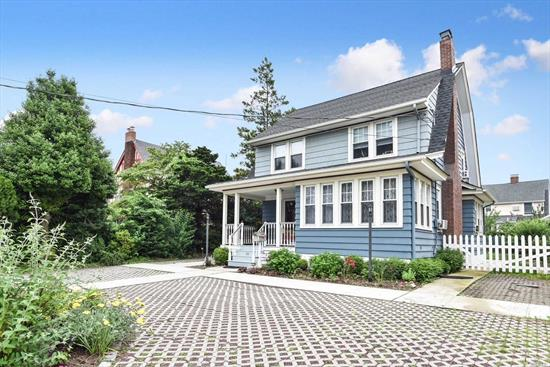 Charming 3 bedroom, 1.5 bath Village Dutch Colonial. Newer heating system, roof & 200 amp electrical service. Circular drive. Washer/Dryer on first floor. Lots of storage space in Attic and Basement. 1 Car Detached Garage. Convenient to houses of worship & public transportation.