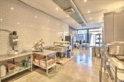 Amazing 2800sq retail storefront with basement. Space is Fully built out for any type of business.. NO KEY MONEY * Floor to ceiling Glass entry with 8' doors * 14' High Ceiling with Recessed Lighting * Exposed Brick walls, * Subway tiled walls throughout * New HVAC cooling and heating system * Finished Basement with recessed lighting* Basement with 8' ceilings * Bathroom * 200 amp 3 phase electrical service.