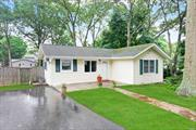 Why rent when you can own this adorable 2 bed 1 bath ranch with fantastic flat yard in Sachem SD with low taxes. Dont miss the opportunity to be a homeowner. **please note: second bedroom is very small