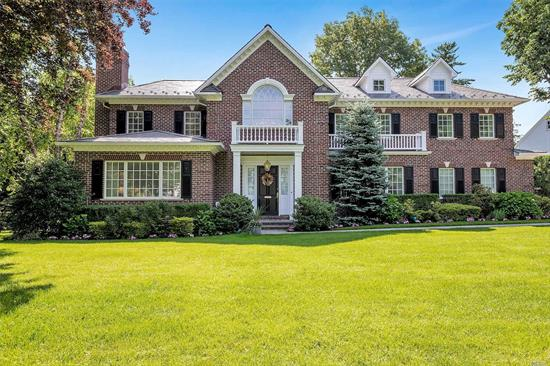First Time ever on the market! Brick Center Hall colonial with 11 rooms, 5 bedrooms, 5 bathrooms, 2 car garage in the beautiful Village of Plandome. Center Hall Colonial, 2 Story Foyer, gourmet kitchen, wolf/subzero appliances, open to family room, back staircase