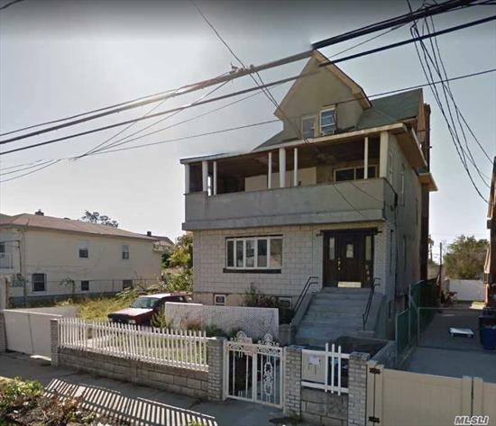 *Vacant *Concrete Foundation *Full Standing Basement *Standing Attic * . Huge living spaces and Potential. Needs Gut Rehab.  Building has certified C/O for 2 family, as well as certified plans of the Attic space (3 bedrooms) as duplex apartment with the 2nd Floor Unit