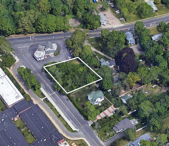Commercial Vacant Lot class code 330. In the heart of North Fork wine country. Ideal retail / professional office/ restaurant or residential and great location minutes from Tanger Outlets in high traffic location off Main Rd / Route 25 in Aquebogue.