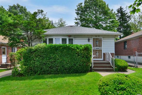 Affordable, detached ranch style home in prime Little Neck neighborhood. This home is located on a oversized lot and good for expansion or rebuild. Convenient to shopping & transportation. SD 26- PS 221, JHS 67, Cardozo H.S.