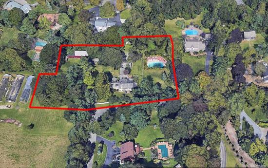 WEST HILLS AREA IN HALF HOLLOW HILLS SCHOOLS! House & Property Sold As Is. Fire Damage In Main House. Guest Home has 2 Rooms & Full Bath. 3 Car Garage & Barn. Possible Subdivision. 3 lots total. 2.79 Acres . Land Being Sold With Partial Structures.