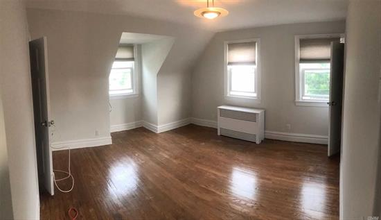 newly updated 2nd floor apartment. very close to everything. No pets. the unit can be rented in two styles. two bedroom with no living room or a one bedroom with a large living room. comes with one parking spot, additional parking will be $50 a month. tenants must pay for gas and electric. Month and half of security deposit and broker fee of 10% of the year.