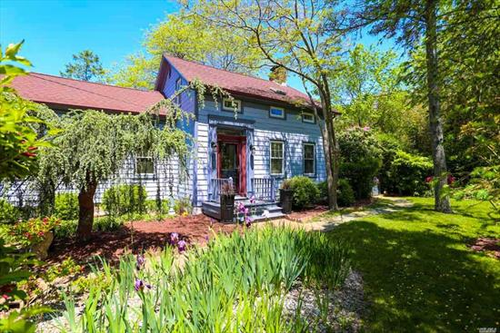 Beautifully crafted 4 bed, 2.5 bath home exudes old world charm and today's modern amenities to create an ideal home for a Bed & Breakfast. Private and serene. A nature lover's oasis! Situated in the heart of the North Fork, and surrounded by 3 vinyards. Mixed use zoning allows for B&B in this charming pre-civil war home. Less than 1/2 mile walk to Jitney bus stop, historic gem with mature landscape. Cast iron radiators, water filtration system, Butlers pantry.
