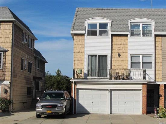 THE CONTINENTAL 7 BR + 5 FULL BATH 2 DECKS+PATIO. FAMILY ROOM/ONE BEDROOM HAS FIRE PLACE AND DIRECT ACCESS TO PATIO. 2 ATT. CAR GARAGE+ADDITIONAL 4 PARKING SPOTS. TOTAL OF 6 PRIVATE PARKING SPOT LEGAL 2 FAMILY AS INVESTMENT/1031 EXCHANGE/ HOME WITH INCOME/ MOTHER IN-LAW, ALL ARE GREAT OPTIONS FOR THIS UNUSUAL LAYOUT.SHORT DISTANCE TO WATER FRONT PARK & MARINA. QM2/QM32/QM20 TO MANHATTAN-Q13 TO LIRR/Q16/Q28 TO FLUSHING