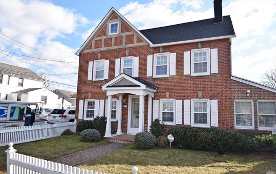 Lovely 3 Bedroom Brick Colonial in Mint Condition. New Kitchen with Granite, New Roof, Newer Bath on First Floor with Laundry Room, Formal Dining Room, Living Room w/ Gas Fireplace, Family Room, Sun Room, Walk Up Attic. Move in ready Taxes are $9464 with STAR exemption!!