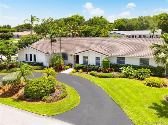 One Of The Best Family-Friendly Quiet Cul-De-Sac Streets In All Of Central Pinecrest Where Kids Really Do Play In The Street! Gorgeous, Large, Open, And Bright 5/3.5 3500 Sqft+ With A Superb And Ideal Layout. Large Master Suite Includes Room For An Office Or Sitting Area, Two Walk-In Closets, And Extra Large Shower. Big 2010 Renovation Included New 24 Ceramic Flooring Throughout, New Electrical, All Redone Bathrooms, New Millwork, And Much More! 2013 & 2015 Trane Ac Units, 2014 Renovated Pool-Patio Area. Walk To All 3 Palmetto Schools And Fish Right In Your Own Backyard!