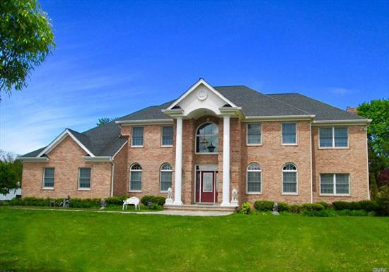 A Luxurious 4, 600+ Square Foot Brick Colonial, Trim & Molding Package, Viking 6 Burner Prof.Stove, Sub-Zero Refig., Bosch Dishwasher, Wideplank Hardwood Floors, Dual Sided Gas Fpl In Mstr, Tile Shower W/Body Spray System, Denw/Brick Fpl., Granite & Cherry Kit.3 Car Garage All On 1 Acre Private Cul-De-Sac!