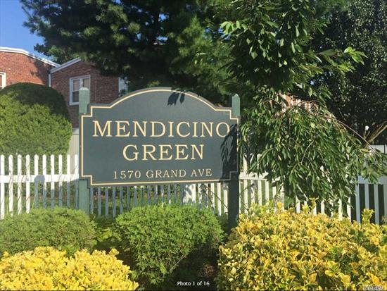 Grand Opportunity on Grand Ave! Beautifully Maintained Duplex Townhouse Boasting 3 Spacious Bedrooms, 1.5 Bathrooms, Large LR, Dining Rm, Eat-In Kitchen W/Ss Appliances, Food Pantry, Private Fenced Yard W/Shed, Hardwood Flrs, Plenty of Storage, 4 AC Units, Lots of Natural Light. Pet Friendly. Amenities Incl InGround Pool, Gazebo, Laundry Rms, Private Car Garages. Maint Incl Taxes, All Utilities Except Electric, Parking Space. 15% Down Reqd. Near Shopping, Dining, LIRR, and Pkwy. Pack Your Bags!!