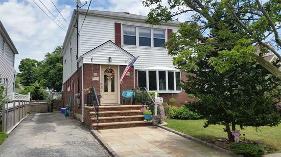 Fabulous 3 bedroom apartment on main level of 2 family home on a quiet residential street in the heart of Lynbrook. New Bath, hardwood floors. 1 car parking in driveway and close to municipal parking. INCLUDES ALL. Available July 1st.