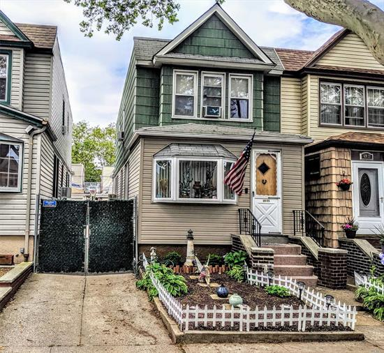 Welcome! Come see this well-kept Home in Glendale, NY with 3 Bedrooms and 1 1/2 Bathrooms as well as a Full Finished Basement. Property features a 1-Car Garage as part of a shared driveway. Located near Fresh Pond - M Train Station, Grocery Shopping, Houses of Worship, Local Gym, Banking, and more!