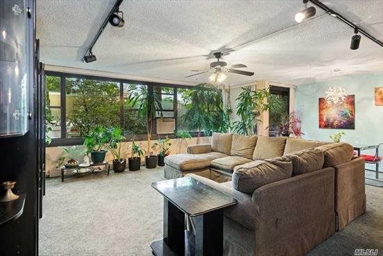 This Corner 2 Br is Priced to Sell! Don't Miss the Rare Opportunity to Create Your Own Vision for the Open Concept Kitchen, Spacious Living/Dining Room Combo And Updated Bathroom. Parking Space Available For Transfer. North West Exposure with Terrace Access From Master Br and LR. Washer Or Dryer On Every Floor. No Dogs Allowed. Amenities Include: A Fitness Center, 2 Outdoor Pools, 3 Tennis Courts, Clubhouse And Restaurant. Walking Distance To Express Bus To Nyc.
