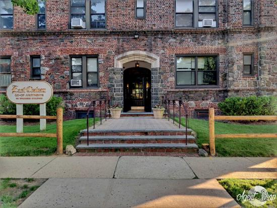 Large & Beautiful 1-Bedroom Apt in Hewlett-Woodmere SD#14 For a Great Price! This Sun-drenched Corner Apt is Spacious & Boasts an Updated Bathroom, Large Living Rm w/ Huge Windows, Huge BR w/ Walk-In-Closet, Eat-In-Kitchen w/ New Stainless Steel Appls, Beautiful HW Flrs w/ Inlays, Lot of Closets , 9' Ceilings, Beautiful Views of Town, Storage/Laundry Rm/Bike Rack on Premises & So Much More! Monthly Maint Only $826.60 After Basic STAR. Small Dogs/Cats Allowed. Very Close to LIRR & Stores. Wow!!