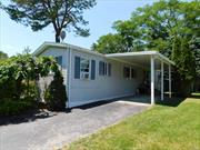 MUST be 55+ years or older to live here - park approval necessary. Renovated 3 Br 2 Bath unit on a private lot.