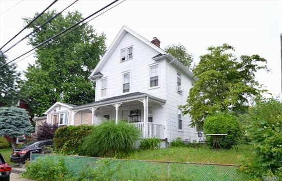 Needs TLC! As Is!! Front Porch, Lr, Fdr, Eik w/Mud Rm to Yard, Full Bath. 2nd Floor: 3 Bdrms, Full Bath. Attic For Storage. Full Unfinished Basement. Includes Extra 50x109 Non buildable Lot