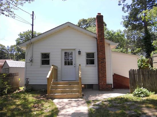 This adorable one bedroom cottage on a quiet dead end street, has been totally renovated. New floors, new kitchen, new bath, etc, etc.