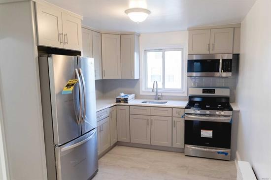 Must have excellent credit. Beautiful legal 2 family 2nd floor apartment. Living room, All new Eat in kitchen, full bath, bedroom, bedroom, Gorgeous wood floors, Walk to transportation, close to all parkways, Easy commute into NYC