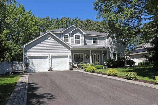 Beautiful 5 Bedroom 3 Bath Colonial With A Heated Salt Water In Ground Pool. This Home Offers a Wood Burning Fire Place, New Heating And CAC Units, Hardwood Floors in the Formal Dining Room and Living Room, And An Open Concept Family Room and Kitchen.