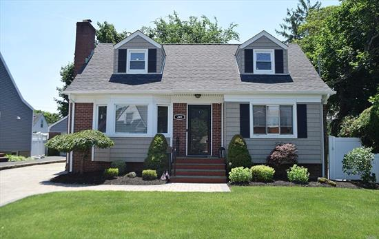 SPACIOUS CAPE/GREAT LOCATION/MOVE IN READY/4 BEDROOMS/3 FULL BATHS/UPDATED KITCHEN WITH SKYLIGHT/LIVING ROOM WITH FIREPLACE/FULL FINISHED BASEMENT WITH FULL BATHROOM, LIVING ROOM, EXTRA BEDROOM AND LAUNDRY/PRIVATE DRIVEWAY/DETACHED GARAGE/WALKING DISTANCE TO SHOPS, ELEMENTARY AND MIDDLE SCHOOL