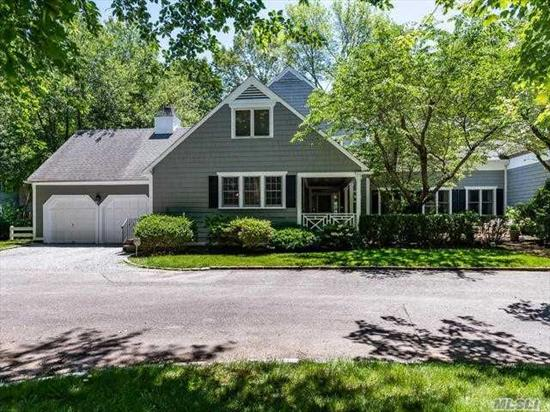 Matinecock Farms HOA. Spacious 3 Bdrm Nantucket Style Farm Ranch with wonderful flow for Entertaining. Beautiful Terrace & Gazebo overlooking Pond and Wildlife. Prospective Buyers to Verify Taxes and Information.