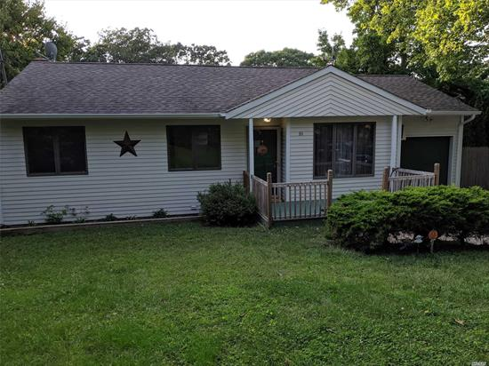 Lovely 3 br ranch, new kitchen with granite countertops & stainless appliances, new contemporary bathroom, new carpet in br's, wood and vinly in Lr & Dr. Anderson windows, fenced yard, full basement with Ose, short distance to beach.