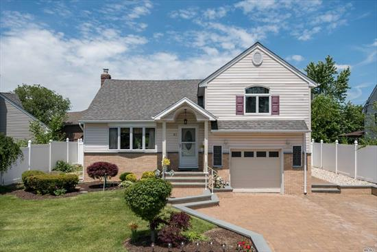 Immaculate Split-Level Home in Desirable Plainedge School District. Paved Entrance Leads to Front Hallway and an Open and Bright Living Space, Eat In Kitchen and Dining Area. This Home Has 4 Bedrooms, 1.5 Baths, Separate Laundry Room and Sliders From Kitchen to Beautiful Paved Patio and Yard for Entertaining!
