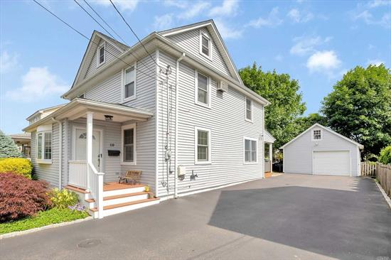 Greenvale, Roslyn School District #3, Low Taxes, 1.5 garage. This mint 3 bedroom Colonial is located mid-block and is only a 1/4 mile to the L I R R and minutes to shopping. This lovely home has an updated eat-in-kitchen, granite counter-tops, and a gas cooking range, two updated bathrooms, Pella and Anderson windows, hardwood floors throughout, Gas Heat, 150 AMP electrical service, hi-hats, crown moldings, pavered rear patio, 6 car driveway, newer vinyl siding and roof.