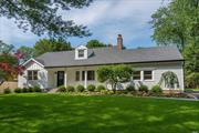 2019 fully renovated HardieShingle Farm Ranch situated on a manicured 1/2 acre w/ bluestone front porch! Two-story foyer leads you to an open sun-filled floor plan featuring high end finishing touches, character grade 5in oak floors, shiplap detail & crown mouldings. EIK w/ Bertazzoni gas stove & quartz countertops adjoins living rm w/ fpl. Convenient 1st fl master w/ luxurious bath & walk-in closet. French drs to paver patio w/ pool & mature plantings for privacy. Only 1mile to Village & Beach.