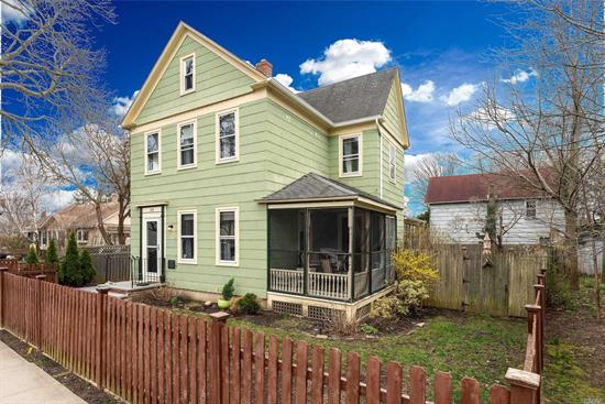 1890's Lovingly Restored Period Victorian in the Heart of Greenport Village. Spacious Interior, Original Details, Beautiful Hardwood Floors, High Ceilings, Sweet Screened Side Porch and Much More. Location Is Key! Central to all Greenport Amenities....Shops, Restaurants, Marinas, Beaches and Transportation. Rare Find and Will Not Last! What are you waiting for?