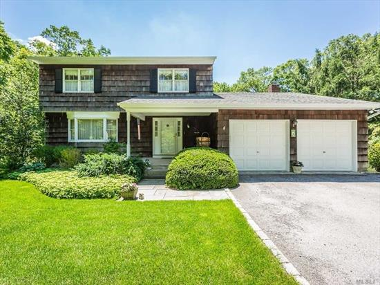 Center Hall Colonial: 3 Bedrooms, 2.5 Baths On Over 1 Flat Acre With Recent Updates. Ready For The Active Buyer. Large And Gracious Home With Many Conveniences. Central Air, Kitchen With Granite Counter Tops And some Stainless Steel Appliances. Open Floor Plan. Family Room With Fireplace, 2 Car Garage With Electric Garage Door Openers. Saltwater Pool with Waterfall, liner 1 year old, 7 Zone Irrigation, Home wired for Auxiliary Generator. Very Private setting, a Home you will be Proud to own.