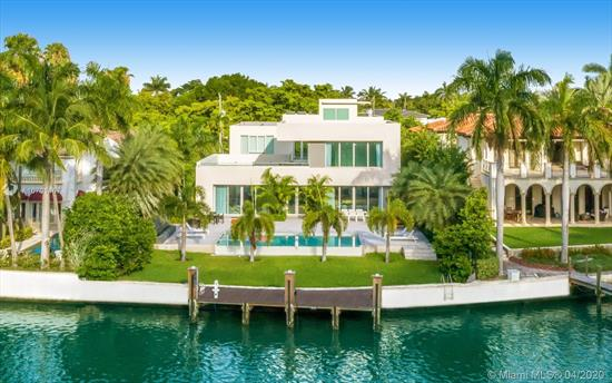 Modern Waterfront Villa On Prestigious Pine Tree Drive! Boasting Over 8, 000 Sq Ft Of Living Area And 2, 000 Sq Ft Of South Florida Outdoor Living, Including A Rooftop Deck Overlooking 77 Ft Of Water Frontage Surrounded By Lush Landscaping & Green Spaces. Large Master Wing + A Massive Bonus Room, Guest Suite On Ground Floor, Gym, Maid'S Room, Plus 2 Additional En-Suite Bedrooms. Gourmet Kitchen, Formal & Informal Living Rooms, Surround Sound + An Expansive Living Area Designed To Open To An Infinity Edge Pool & Waterfalls Make It An Ideal House For Entertaining! A 35' Dock With Shore Power + Bay & Ocean Access Make It A Boater'S Dream! Combined With A Prestigious Address Centrally Located This Is The Definition Of Miami Beach Living!
