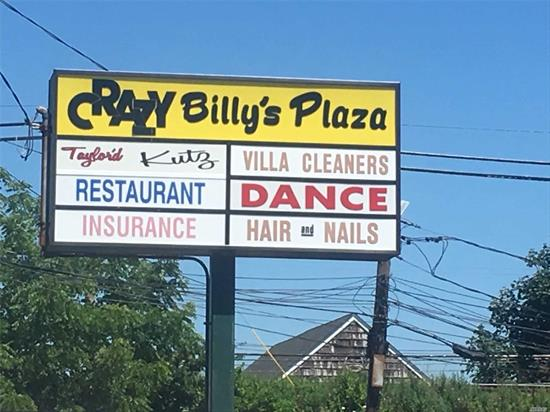 Iconic Crazy Billy's Shopping Center!! Great Spot w/ Good History. Lock in Leases for Five Year Plus. Great Income!!