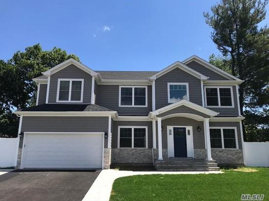 New Construction In The Heart Of Syosset! Spectacular Location On Cul-De-Sac, Over 3800 sq ft Colonial W/5 Bdrms & 3 Bths on lg lot. Dbl Hgt Entry Leads To Lvrm, Fdrm, Lg Den W/Fplc, Gourmet Eik W/ Gas & Granite Island, Bdrm & FBth & 2 Car Garage. Spacious Master Ste W/Fbth And Lg Closet plus 3 very spacious Bdrms & Fbth, Exquisite Details! Close to train and shops! Time To Customize!