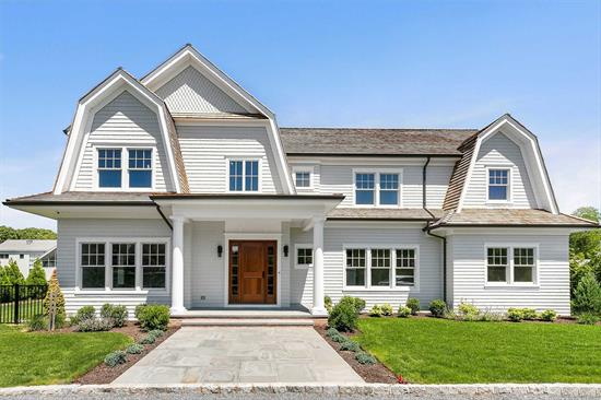 Spectacular new construction south of the highway in the heart of Quogue. With meticulous attention to detail, this 4, 000+ sqft Post Modern features a 1st floor suite, gourmet kitchen, formal dining, den and open family room looking out to the gunite pool with pool house. The second floor features two guest bedrooms with ensuites as well as the spacious master with walk-in closet. Do not miss this rare opportunity for new construction in Quogue south of the highway!