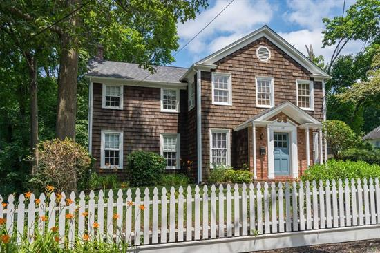 Absolutely wonderful, this fabulous vintage 1850's home has been updated and renovated without losing it's original charm. It boasts high ceilings, spacious rooms, screened in porch, over 1/3 of an acre of beautiful property, and close to all that The Village has to offer. Truly a special home!