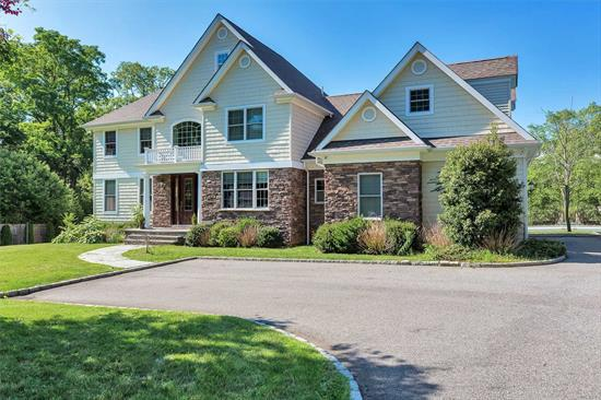 Extraordinary opportunity to own this 2010 custom built beautiful colonial set on 1.43 private flat acres with its own gated entrance, complete with inground pool and sports court. Detailed craftsmanship throughout. Hi-ceilings, all large principal rooms. Front and rear staircases. 6th Bedroom with adjacent Full Bath on first floor.A majestic home in acclaimed Harborfields School District! Taxes are overassessed- Sellers will provide $15, 000 credit to Buyers at Closing against Property Taxes.