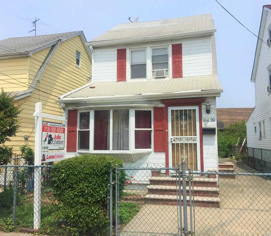 A rare opportunity in Fresh Meadows, this frame colonial is zoned for R3-2, making it ideal whether you are looking for an investment or a home to live in while supplementing your income. Located in Fresh Meadows, close to St. John's University and mass transit (the Q65 bus is half a block away), this unique home features a total of 4 bdrms, 2.5 bths,  plus a finished bsmt!