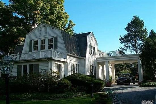 Estate Like Property Tucked Away With Partial Manhasset Bay Waterviews. Charming Old World Home With Grand Size Formal Rooms. Pool, Tennis Court and Terrace Gardens, Long Drive Way Leads To Porte Cochere. Make This Amazing Opportunity Your Forever Home.