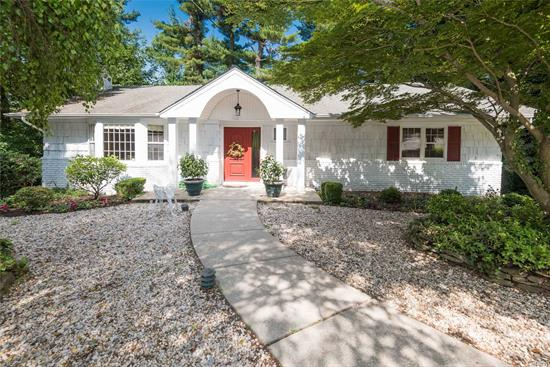 Located in a lovely cul-de-sac, close to Plandome RR Station. Bird sanctuary behind house. Home is well maintained. Recently painted. Beautiful wood floors. French Sliders to trek deck .Walk out lower level with new floors (Vinyl Plank). Sprinklers, CAC, Alarm System, Manhasset School. LOW TAXES! MUST SEE!