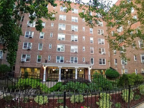 Large Studio on 6th Floor of a Well-Maintained Elevator Building. Conveniently Located Near Subway, Buses, Shopping, Highways, and Places of Worships. Spacious Living Space, Open Kitchen, 3 Big Closets, Lots of Windows. Sunny and Bright. Laundry in the Building. Allow Renting After One Year. Parking is Waiting List. Won't Last!!!