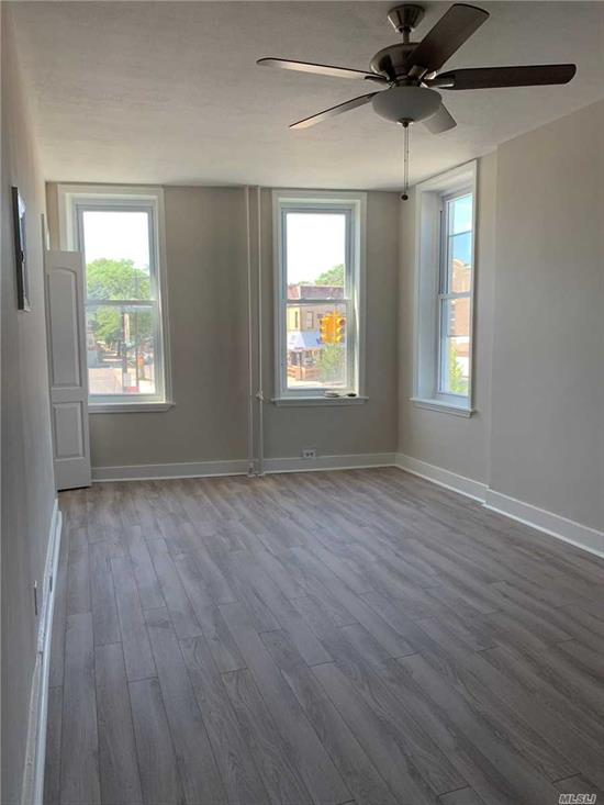 Newly renovated 2nd Floor apartment with a lot of natural light. Freshly painted with wood floors throughout. Spacious master bedroom, 2nd bedroom is junior size. Convenient location to shopping & restaurants.